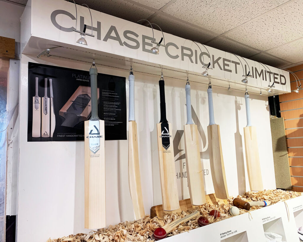 Some of the landmark bats made by Chase Cricket