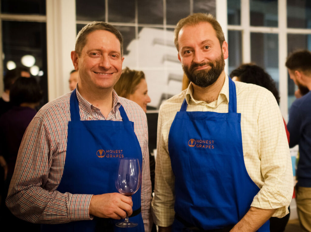Tom Harrow and Nathan Hill founders of Honest Grapes