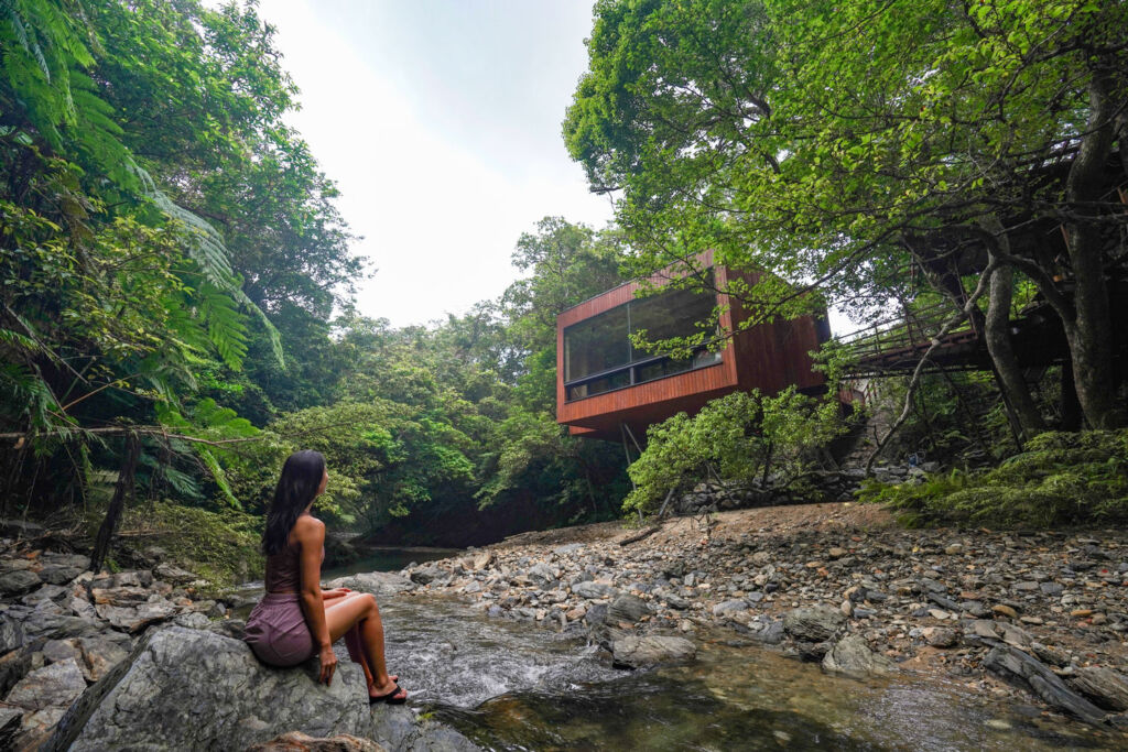 The aerohouse at the Treeful Treehouse resort