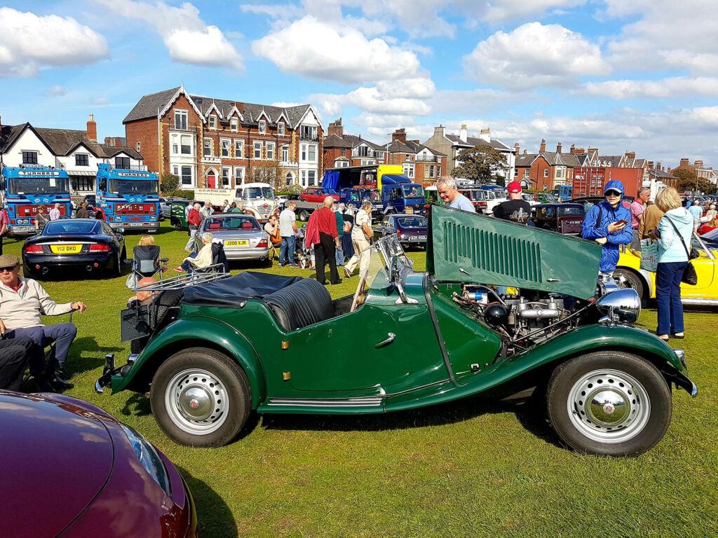 Vintage Morgan at a UK Classic Car Show