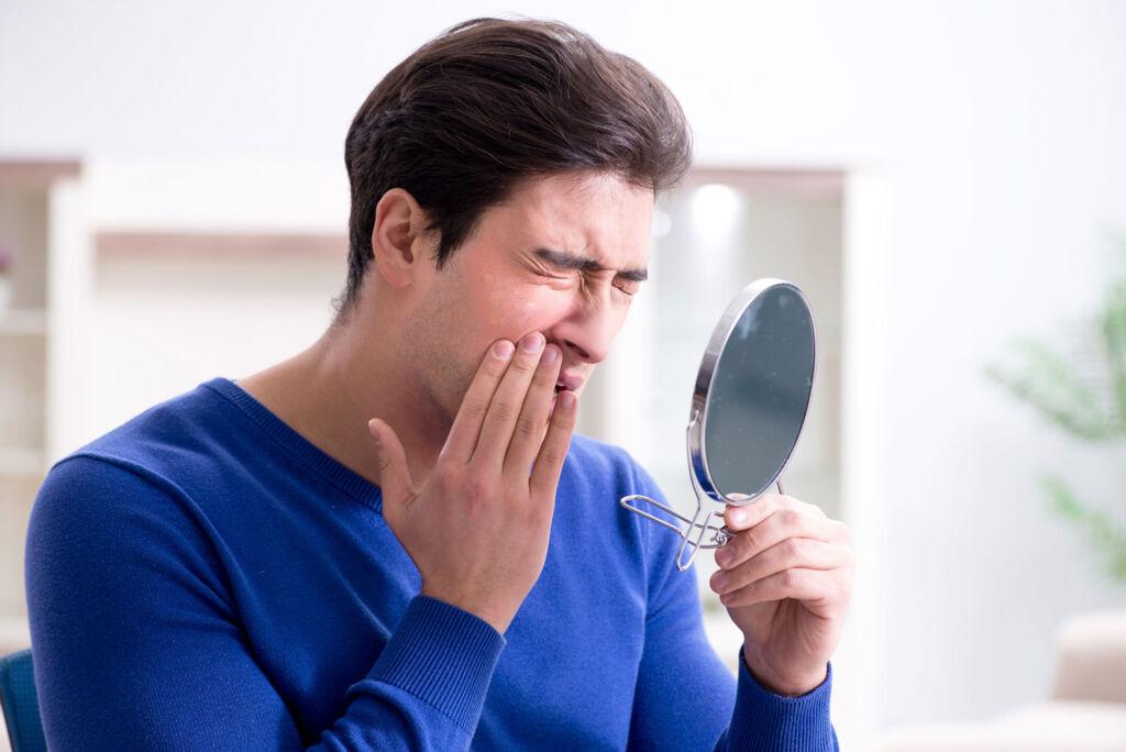 Man having an eczema flare-up