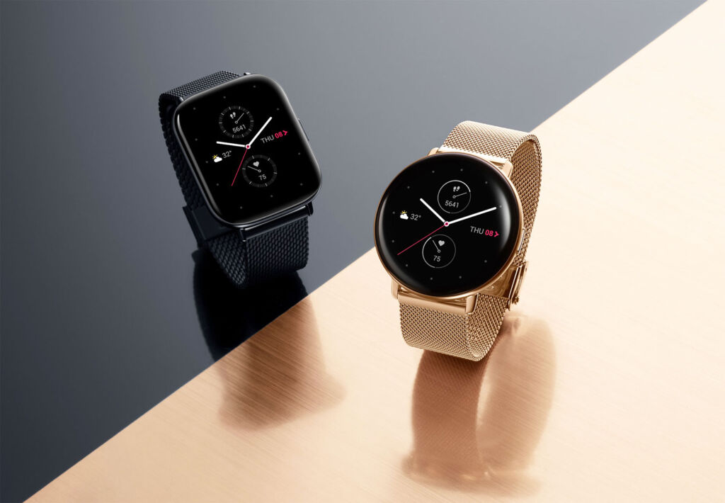 Zepp smartwatches Circular and Square versions