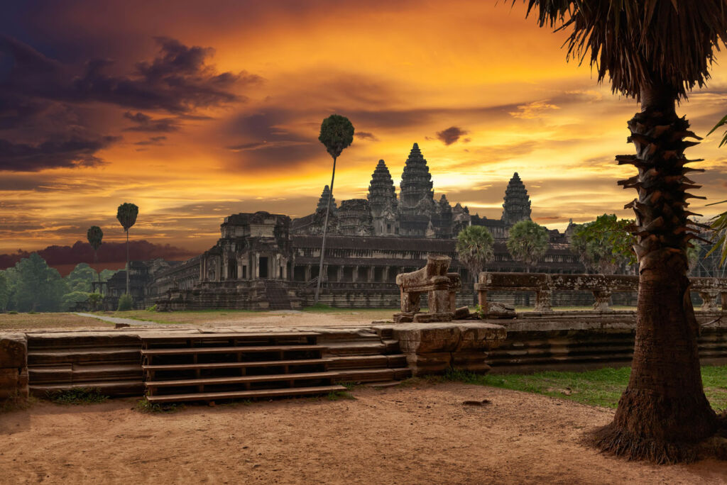 The temple at Angor Wat