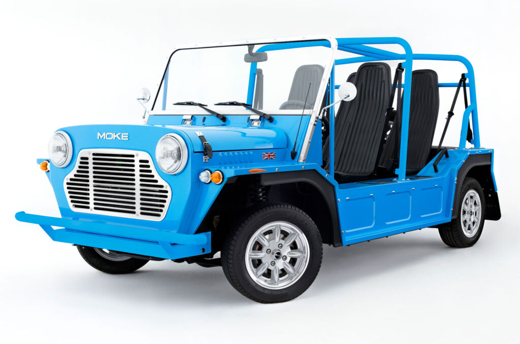 2020 MOKE car in blue