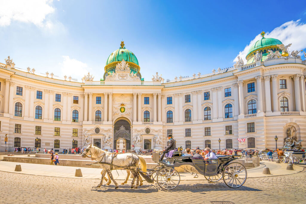 A horse drawn carriage in Vienna
