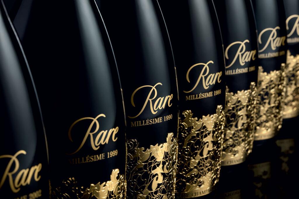 A row of Rare Millésime 2006 bottles