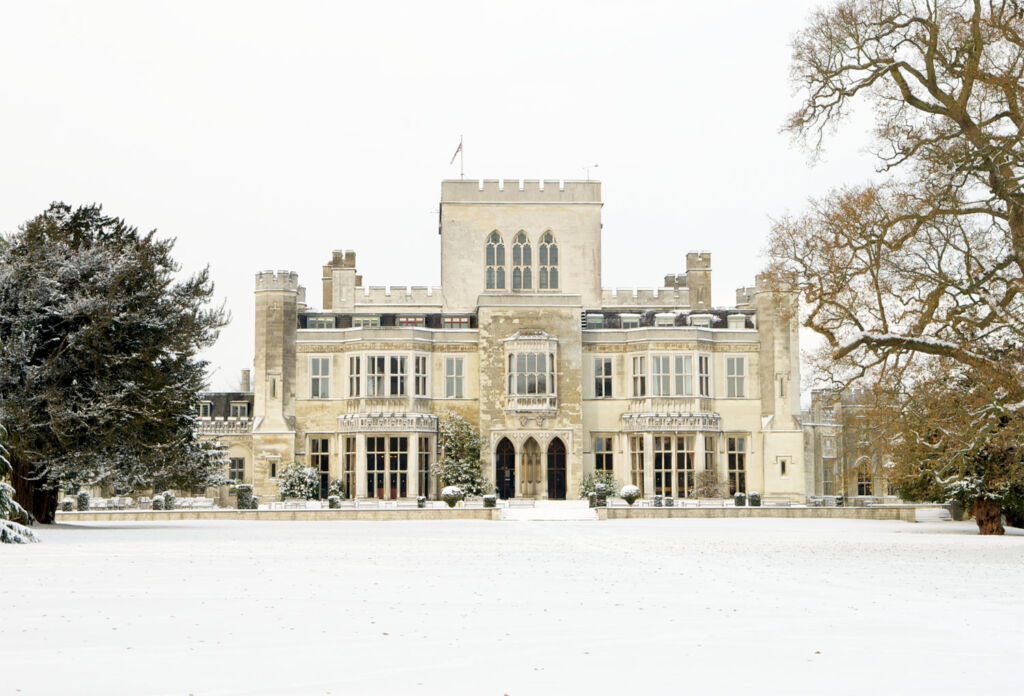 Ashridge House in the winter snow