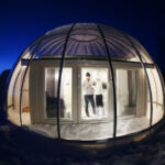 Bubble lodge at the Ice & Light Village Kalix