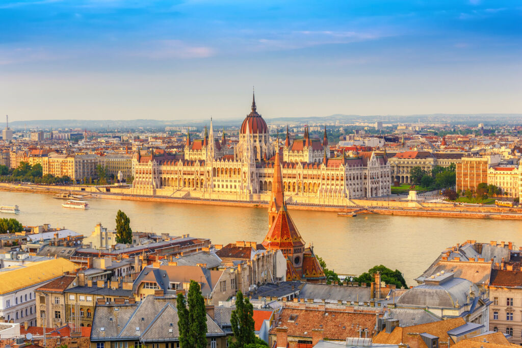 Budapest in the bright sunshine