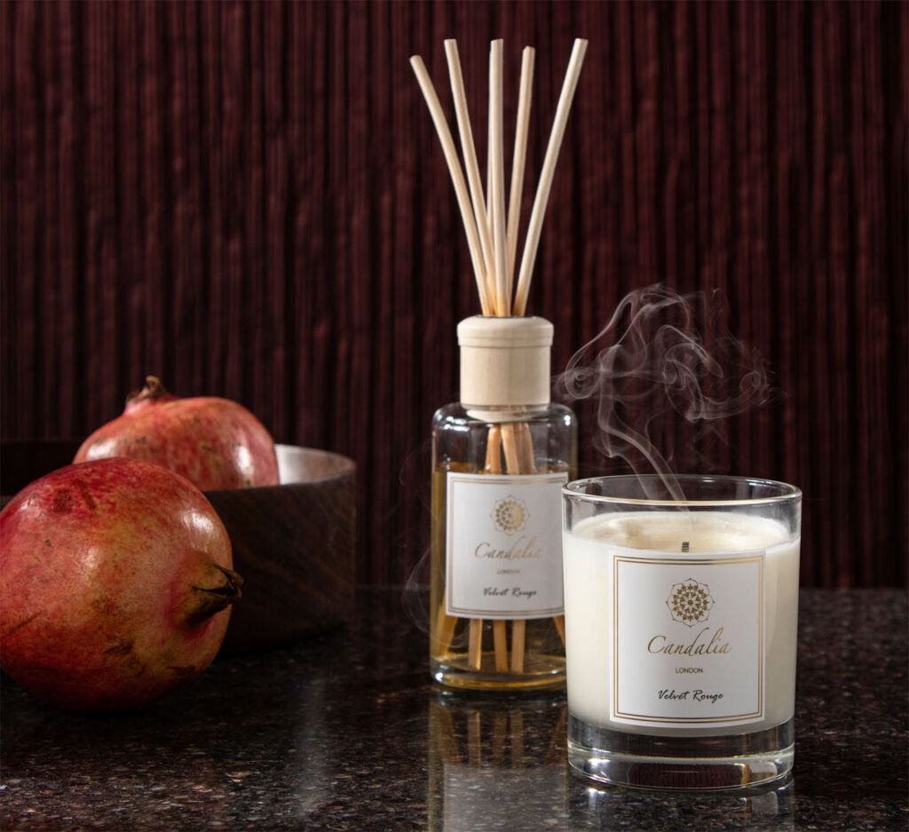 Candalia London Velvet Rouge candle and diffuser