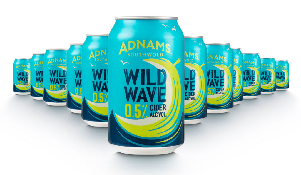 Cans of Adnam Southwold Wild Wave Cider