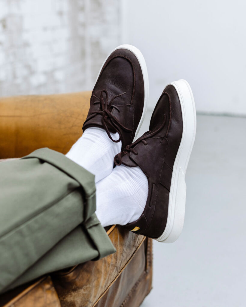 Dark brown leather Goral shoes