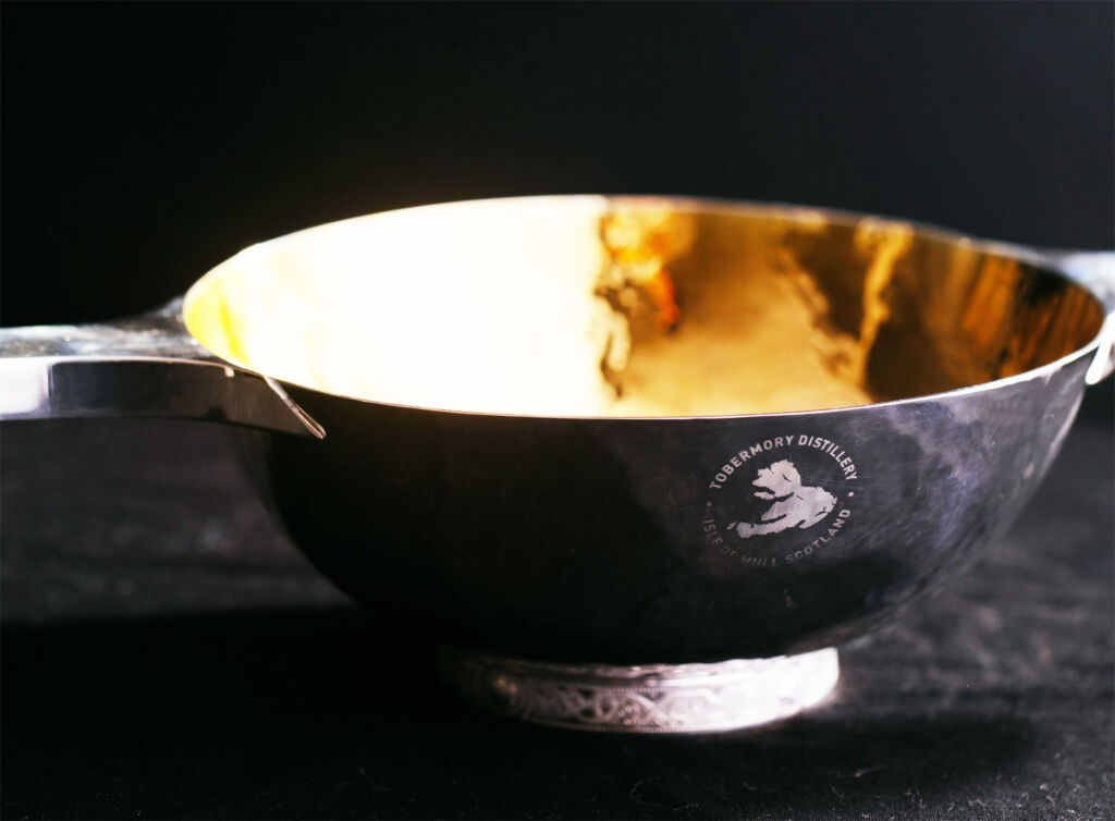 The hand made gold and sterling silver quaich