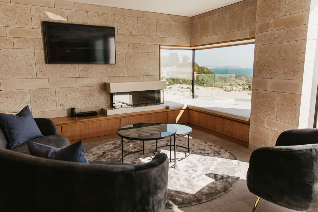 Inside a living room in of the Clifftops properties