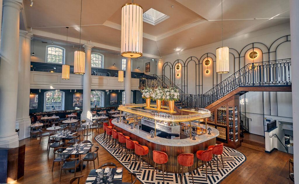 The spectacular interior at Klosterhaus Restaurant