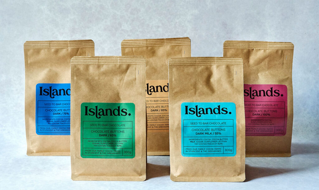 Islands Chocolate Buttons Flavours and Varieties
