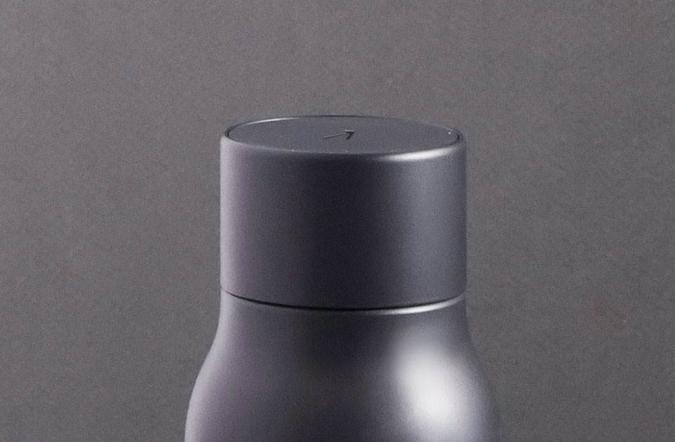 Press the LARQ Bottle Lid for instant clean water