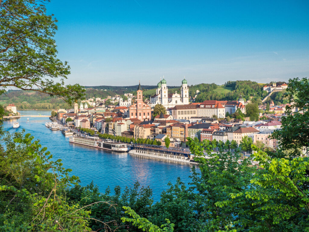 A view over the river to Passau