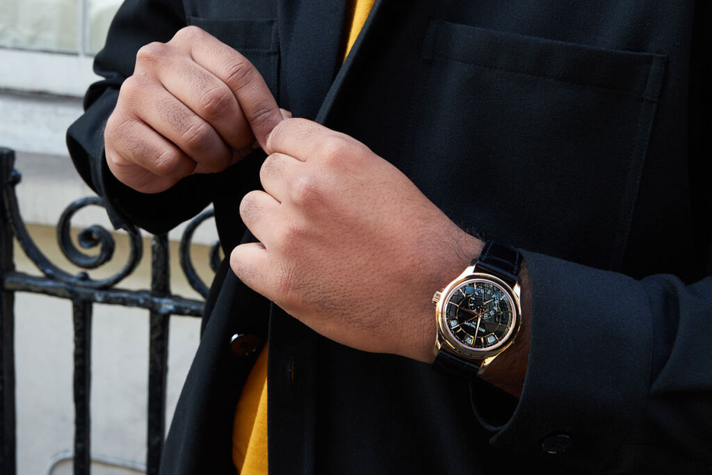 Patek Philippe moon phase watch in gold