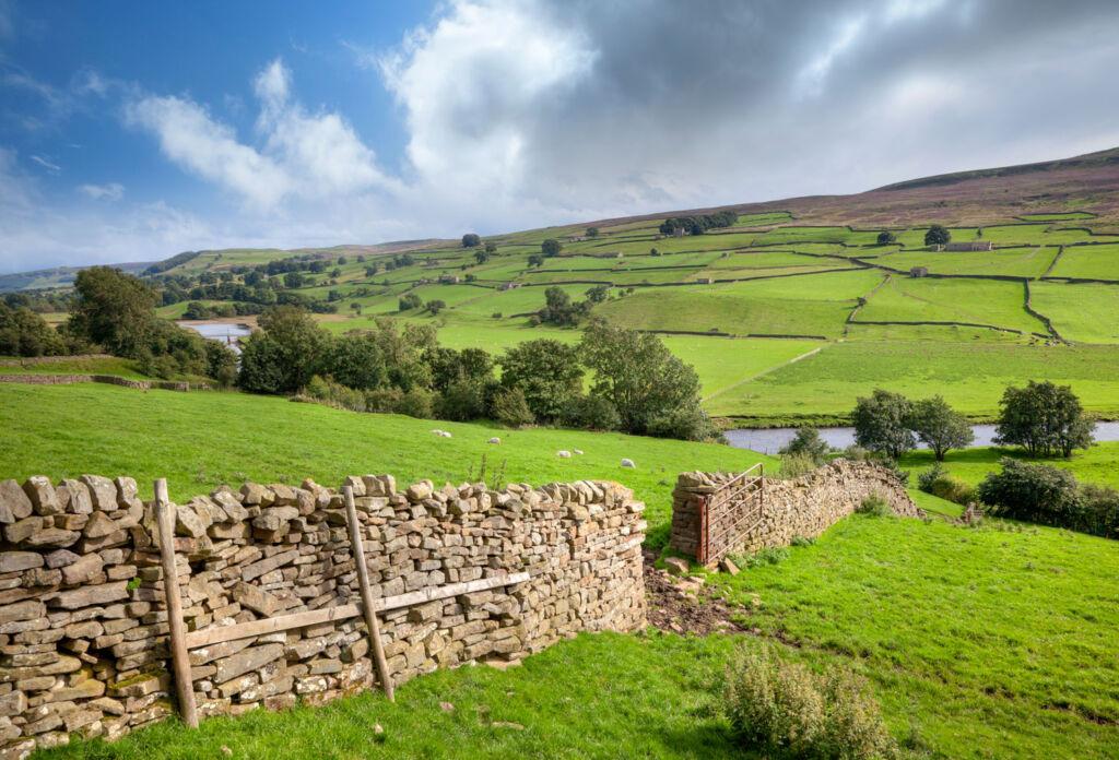 Picturesque farmland in North Lancashire