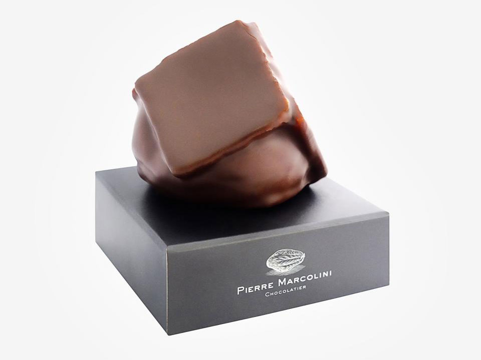 One of Pierre's incredible chcolate creations with its box