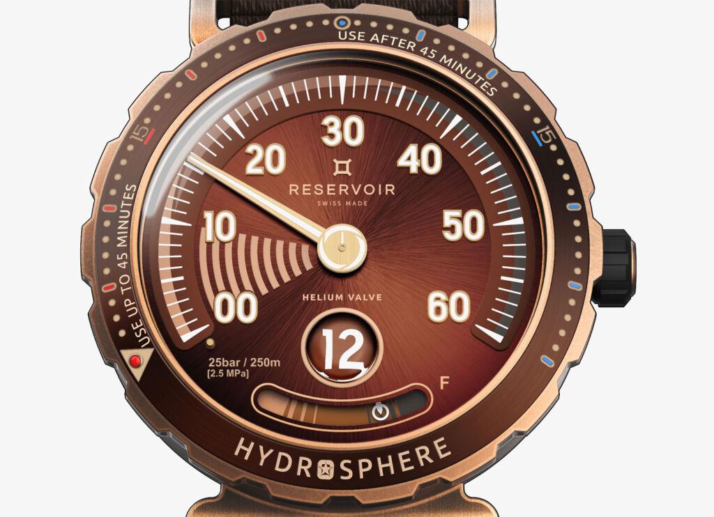 Reservoir Hydrosphere Bronze X Revolution dial