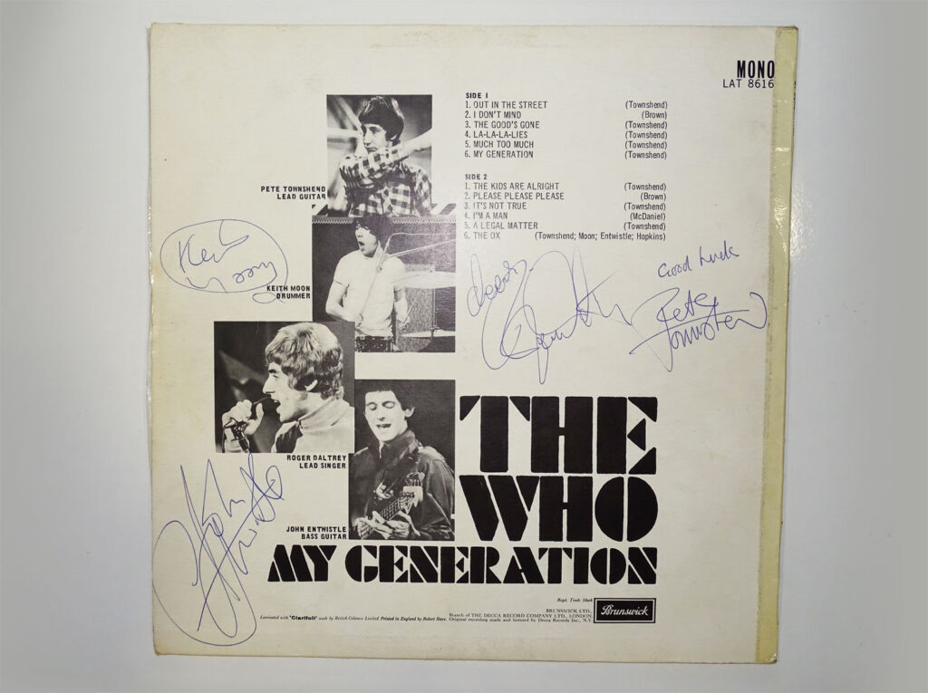 Signed first edition of The Whos My Generation Album