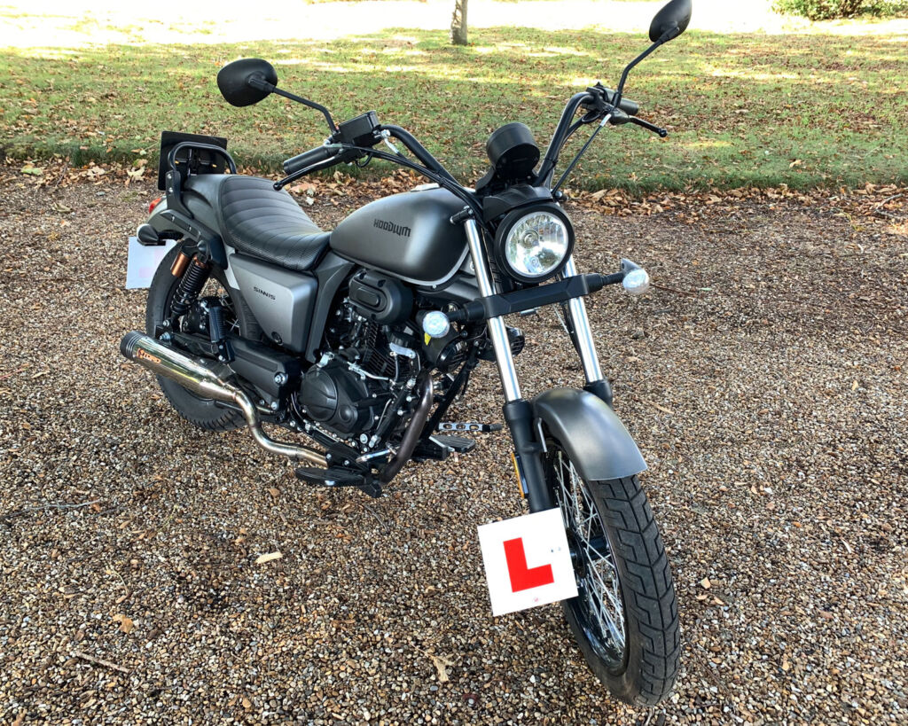 Front view of the Hoodlum with its Learner plate