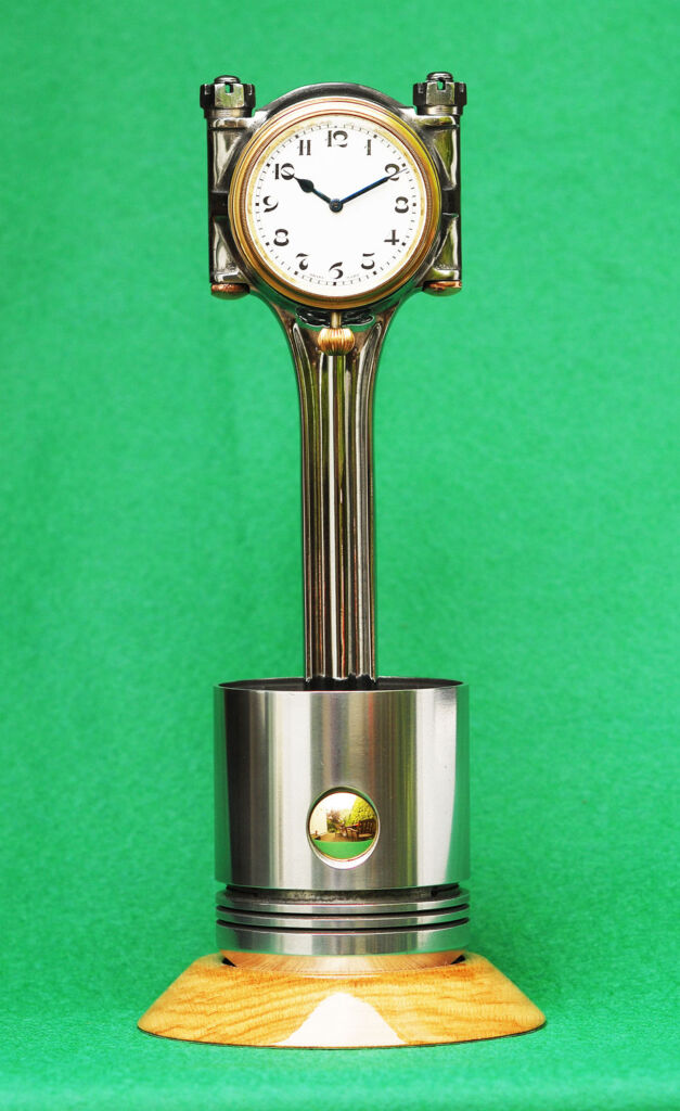 The TMB Art Metal D-Type Jaguar Clock