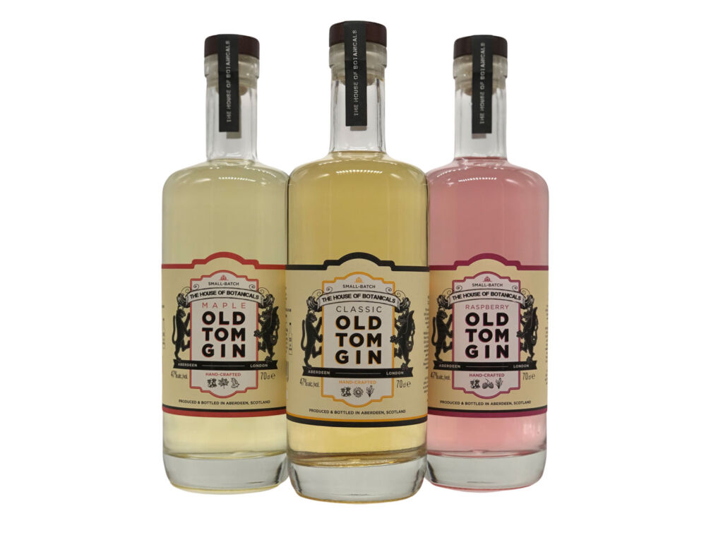 The three varieties of House of Botanicals Old Tom Gins