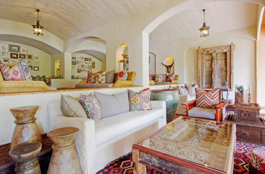 The ornate lounge at the property