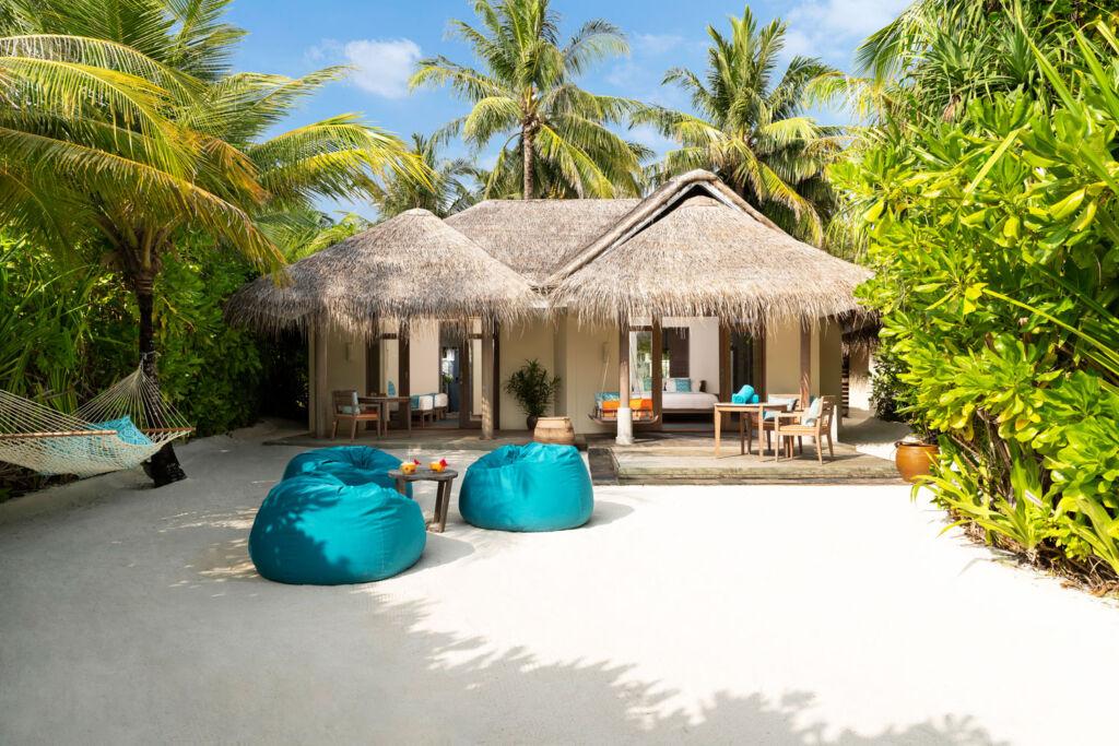 Two bedroom beach front villa at Anantara Dhigu