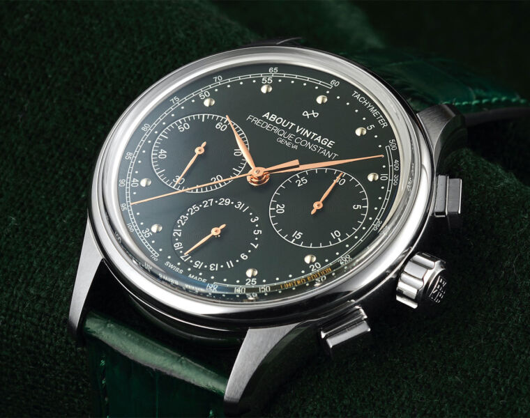 Frederique Constant's 1988 Flyback Chronograph is all About Vintage