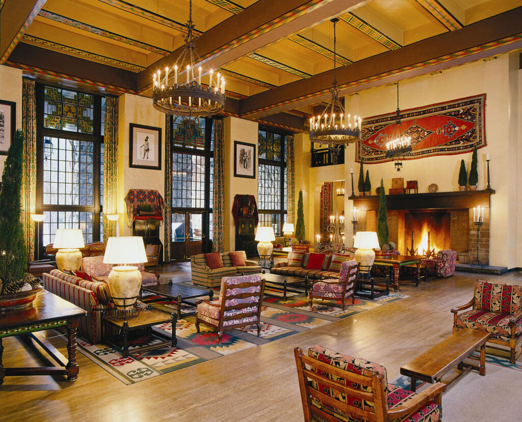 The Grand Lounge inside the Ahwahnee hotel