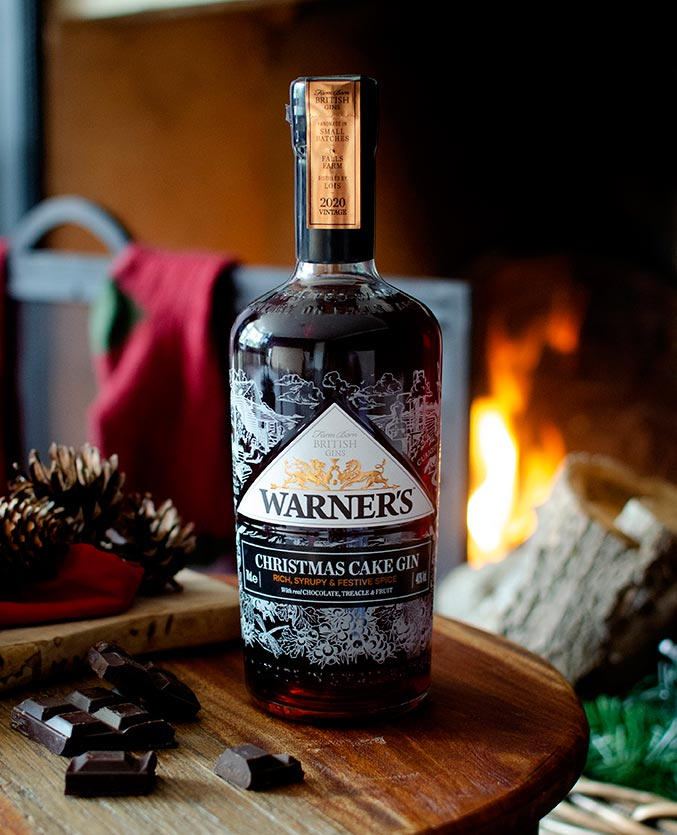 A bottle of Warner's Christmas Cake Gin leaves no doubt which season it is aimed at when you see one