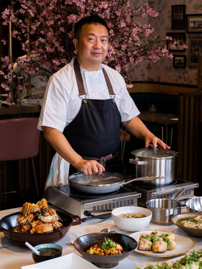 Chef Jason Li preparing a mini feast