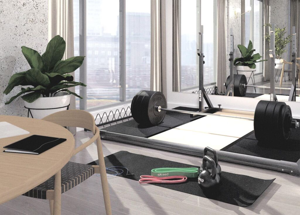 A home gym installation in a smaller property