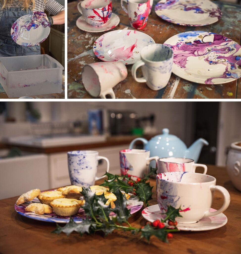 Lynne Lambourne marbled crockery