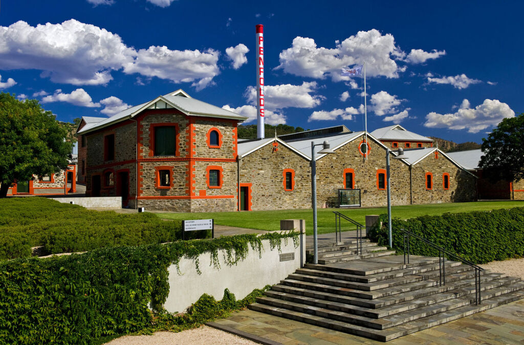 The beautiful main building on the Penfolds estate