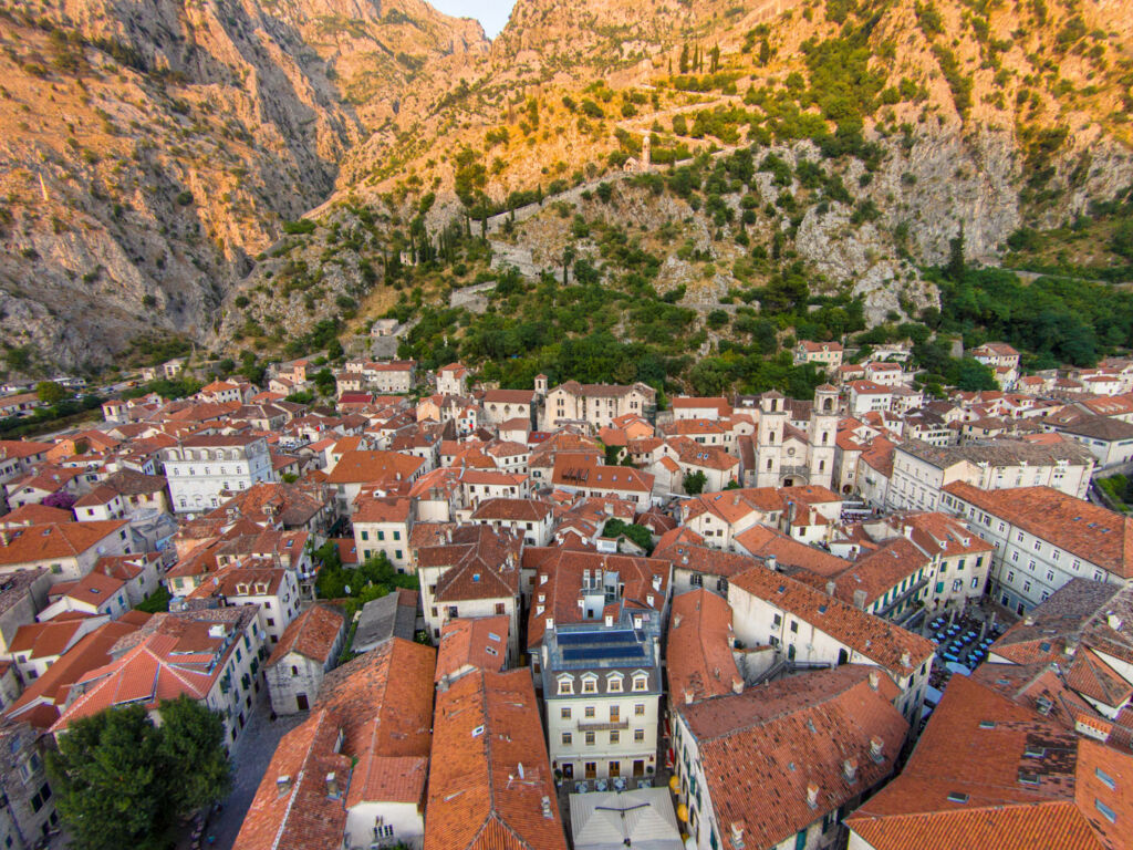 The Old town Kotor in Montenegro