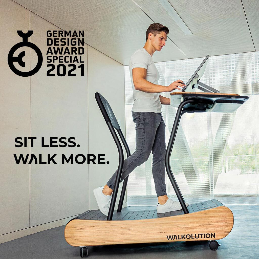 The treadmill desk was a winner at the German Design Awards