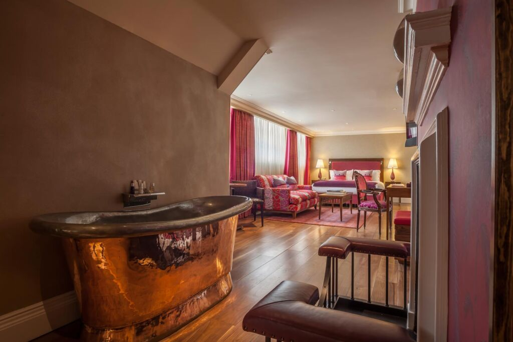 Inside one of the Roseate Reading's luxurious and spacious bedrooms