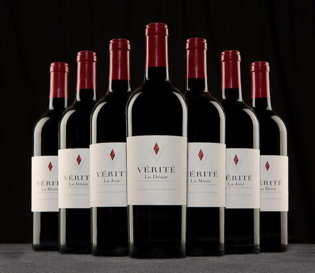 Various bottles of Vérité Red Wines