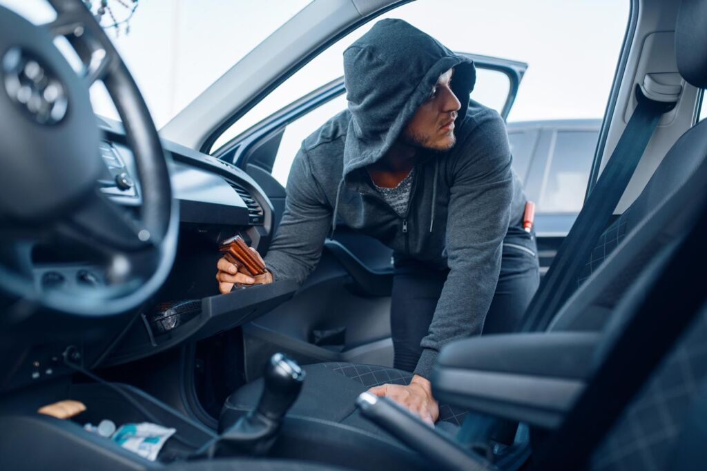Leaving your engine running and unlocked makes it a magnet for thieves