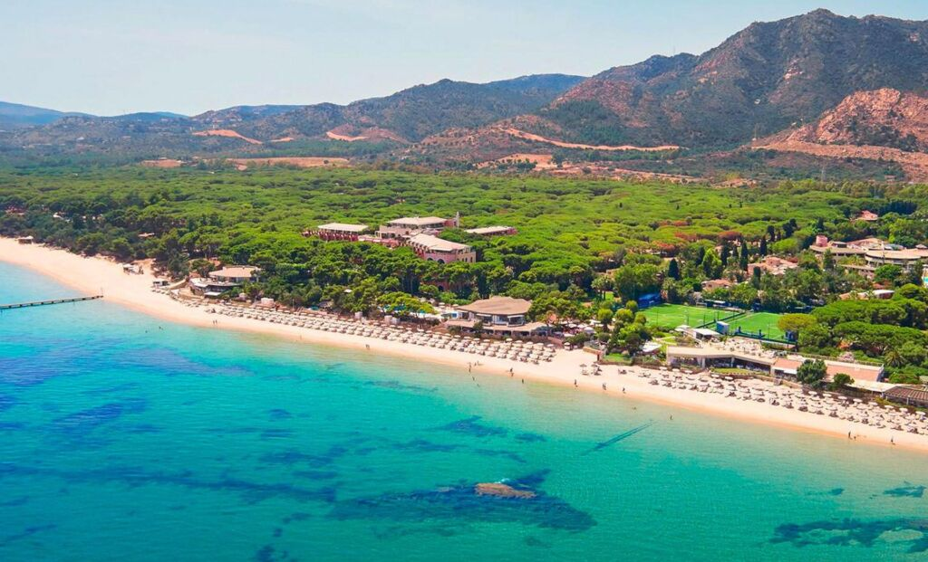 An aerial view of Forte Village Resort in Sardinia