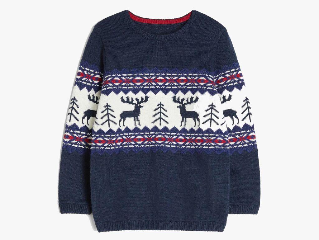 John Lewis Boys Reindeer Christmas Jumper
