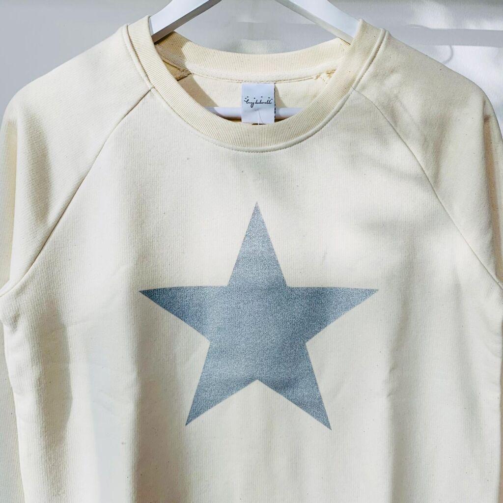 Lucy Dodwell Glittery Grey Star Sweatshirt