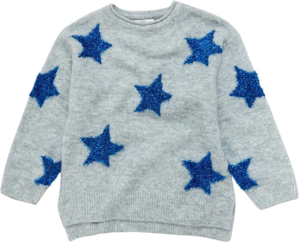 M&S Sparkly Star Jumper