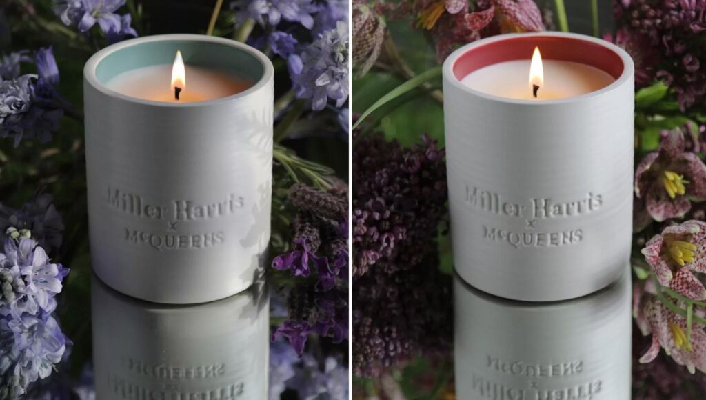 Miller Harris x McQueens limited-edition candles