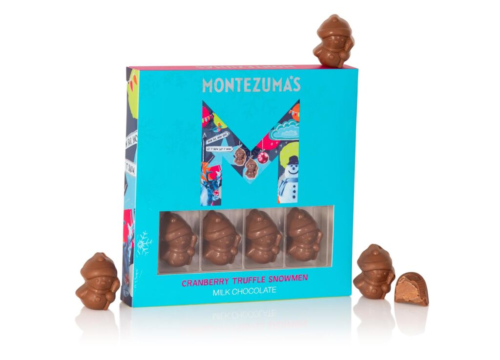 Montezuma Chocolate Truffle Snowmen